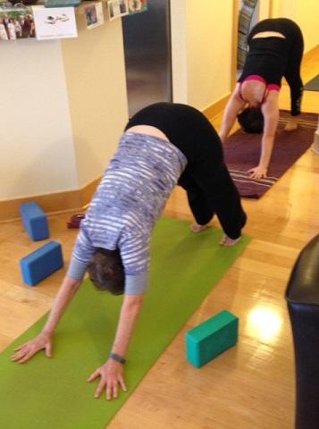 Yoga double down dog