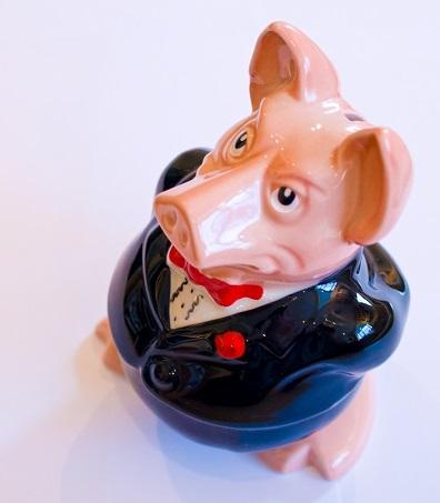 Wolf piggy bank