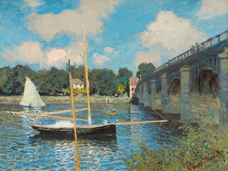 Travel Monet bridge at argenteuil